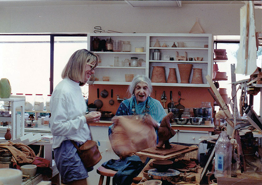 04 Beatrice Wood in studio_